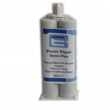 PU Plastic Repair Semi Rigid 50ml- Black